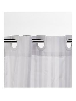 Croydex Croydex White Regency Stripe Hook N Hang Shower Curtain Picture