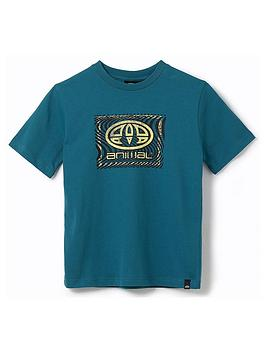 Animal Animal Boys Thoron Graphic Short Sleeve T-Shirt - Teal Picture