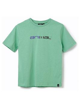 Animal Boys Sketchy Short Sleeve T-Shirt - Green