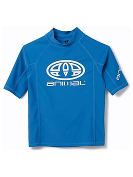 Animal Animal Boys Hiltern Short Sleeve Rash Vest - Blue Picture