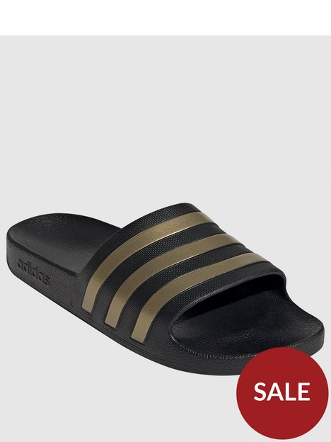 adidas-adilette-aqua-slides-blackgold