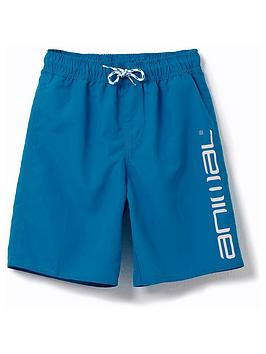 Animal Animal Boys Tannar Logo Swim Shorts - Blue Picture