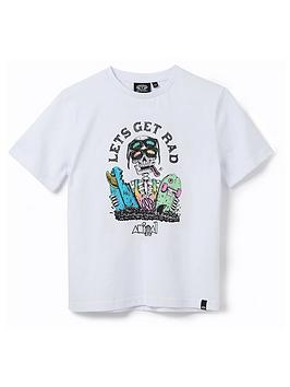 Animal  Boys Get Rad Graphic Short Sleeve T-Shirt - White