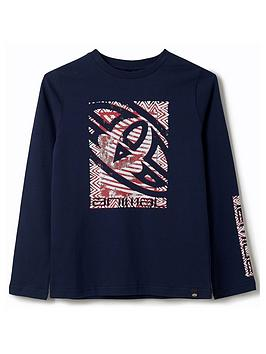 Animal Animal Boys Board Long Sleeve T-Shirt - Navy Picture