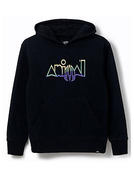Animal Animal Boys Ryder Logo Hoodie - Black Picture