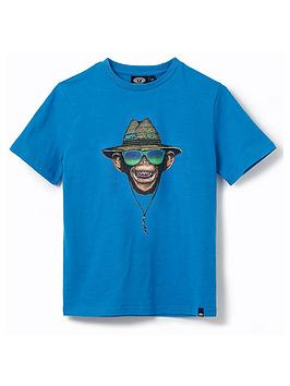 Animal Animal Boys Hang Loose Short Sleeve T-Shirt - Blue Picture