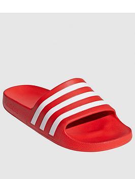Adidas Adidas Adilette Aqua Slides - Red Picture