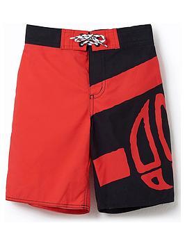 Animal Animal Boys Layka Logo Swim Shorts - Black/Red Picture