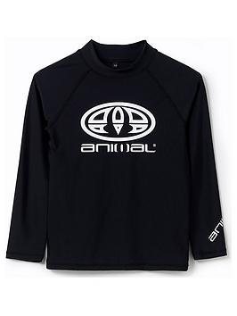 Animal Animal Boys Fontaine Long Sleeve Rash Vest - Black Picture