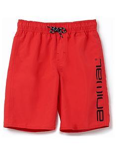 animal-boys-tannar-logo-swim-shorts-red