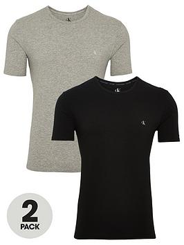 Calvin Klein Calvin Klein 2 Pack Shortsleeve T-Shirt - Black/Grey Picture