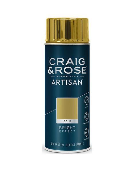 craig-rose-artisan-gold-bright-effect-spray-paint-400ml