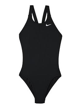 Nike Nike Girls Performance Fastback One Piece Swimsuit - Black Picture
