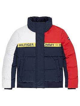 Tommy Hilfiger Tommy Hilfiger Girls Colourblock Padded Jacket - Navy Picture