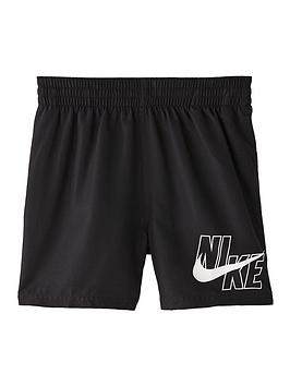 Nike Nike Boys 4 Inch Logo Solid Volley Swim Shorts - Black Picture