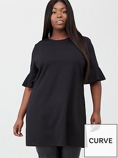 v-by-very-curve-jersey-crepe-tunic-black