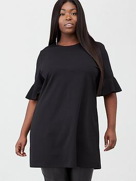 V by Very Curve V By Very Curve Stretch Tunic - Black Picture