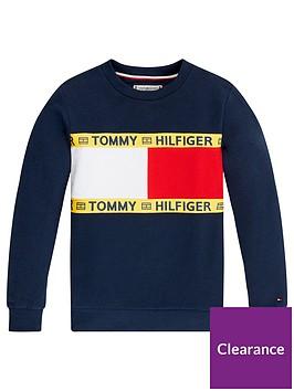 tommy-hilfiger-unisex-flag-crew-sweatshirt-navy