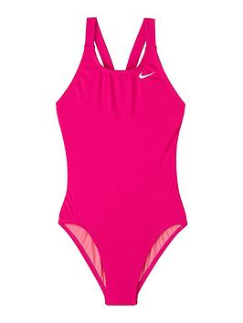 Nike Nike Girls Performance Fastback One Piece Swimsuit - Pink Picture