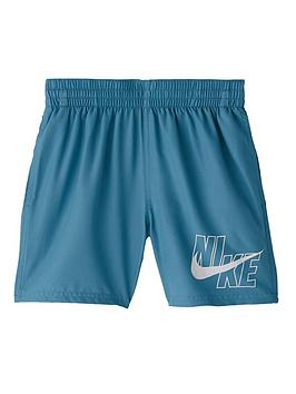 Nike Nike Boys 4 Inch Logo Solid Volley Shorts - Green Picture