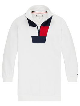 Tommy Hilfiger Tommy Hilfiger Girls Rugby Stripe Dress - White Picture