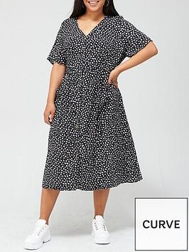 v-by-very-curve-button-through-printed-shirt-dress-multi-print