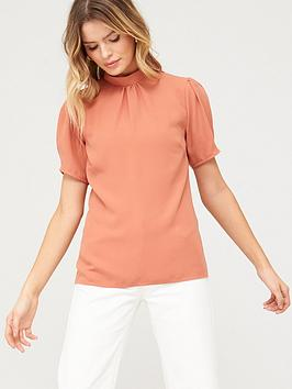V by Very V By Very Short Sleeve Shell  Top - Blush Picture