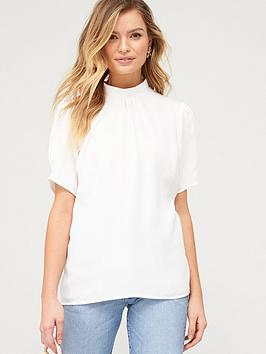 V By Very Short Sleeve Shell Top - White