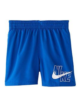 Nike Nike Boys 4 Inch Logo Solid Volley Shorts - Blue Picture