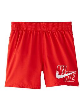 Nike Nike Boys 4 Inch Logo Solid Volley Swim Shorts - Red Picture