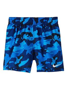 Nike Nike Boys Camo 4 Inch Volley Shorts - Navy Picture