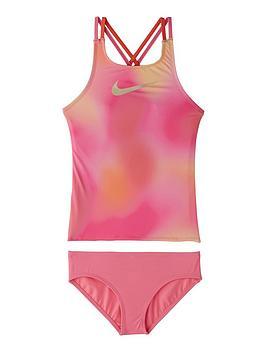 Nike Nike Girls Spiderback Tankini Set - Pink Picture