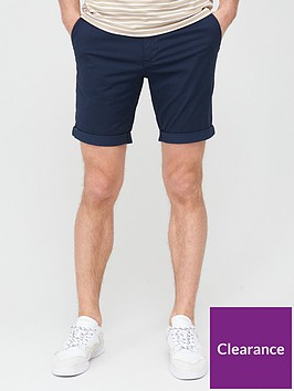 selected-homme-paris-straight-fit-shorts-navy