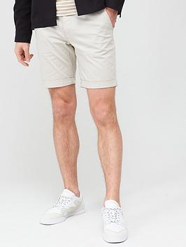 Selected Homme Selected Homme Paris Straight Fit Shorts - Stone Picture