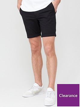 selected-homme-paris-straight-fit-shorts-black