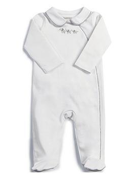 Mamas & Papas   Unisex Collar Sleepsuit - White