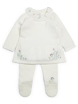 Mamas & Papas   Baby Girls Frill Collar 2 Piece Set - White