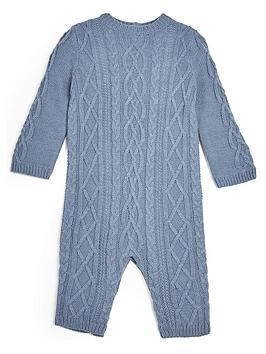 Mamas & Papas   Baby Boys Knitted Sleepsuit - Blue