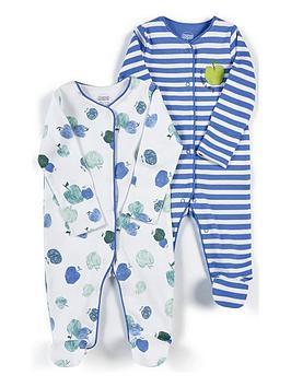 mamas-papas-baby-boys-apple-stripe-2-pack-sleepsuit-blue