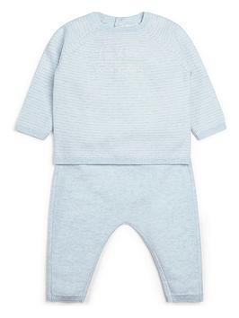 mamas-papas-baby-boys-hello-world-2-piece-set-blue