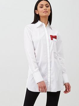 HUGO Hugo Logo Pocket Shirt - White Picture