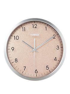 tower-glitz-blush-wall-clock