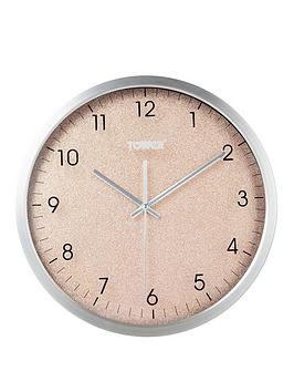 Tower Tower Glitz Blush Wall Clock Picture