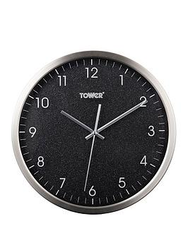 Tower Tower Glitz Black Wall Clock Picture
