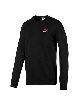 Puma Puma Classics Embossed Crew Sweat - Black/Red Picture