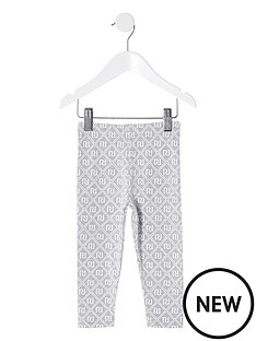 river-island-mini-mini-girls-monogram-leggings-grey