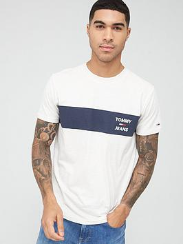 Tommy Jeans Tommy Jeans Chest Stripe Logo T-Shirt - White Picture