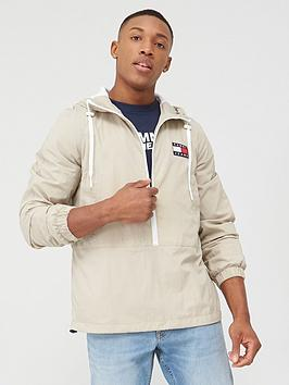 Tommy Jeans Tommy Jeans Contrast Zip Popover Jacket - Stone Picture