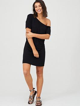 V by Very V By Very Off The Shoulder Tunic - Black Picture