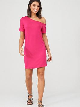 V by Very V By Very Off The Shoulder Tunic - Pink Picture